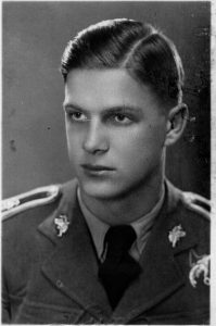 Witold Łokuciewski shortly before graduation at the School of Eaglets. October, 1938.